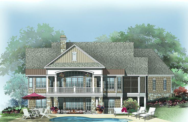 the silvergate house plan rear color house plans