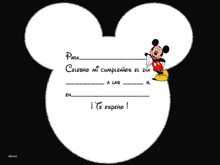 Tarjetas De Cumpleanos Mickey Mouse7