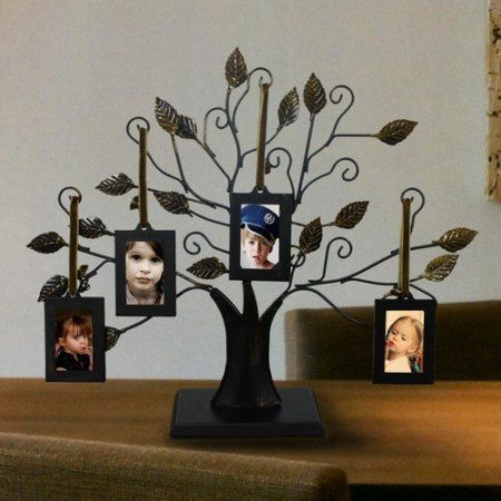 Adeco Trading 4 Opening Decorative Iron Tree Table Top Collage Picture Frame