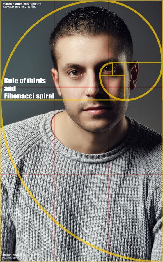 Portrait - Rule of thirds and Fibonacci spiral by Marco Ciofalo Digispace, via 500px