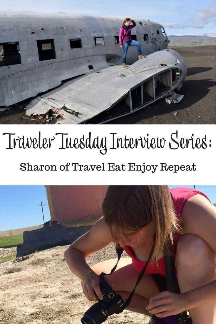 Interview with travel blogger Sharon of Travel Eat Enjoy Repeat. Sharon talks about her travel start, her inspirations, and what she takes on a trip. #interview #travelblogger