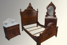 Antique Absolutely Stunning Three-piece Victorian Bedroom Set