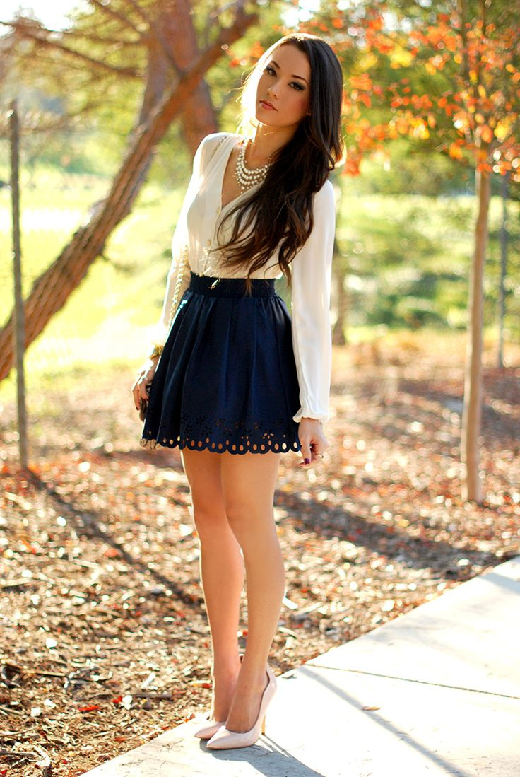 A-line skirt with heels...Prim and Proper - Hapa Time