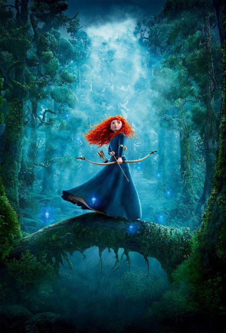Day 3- my favorite heroine is Merida. She is brave (lol) in every way.