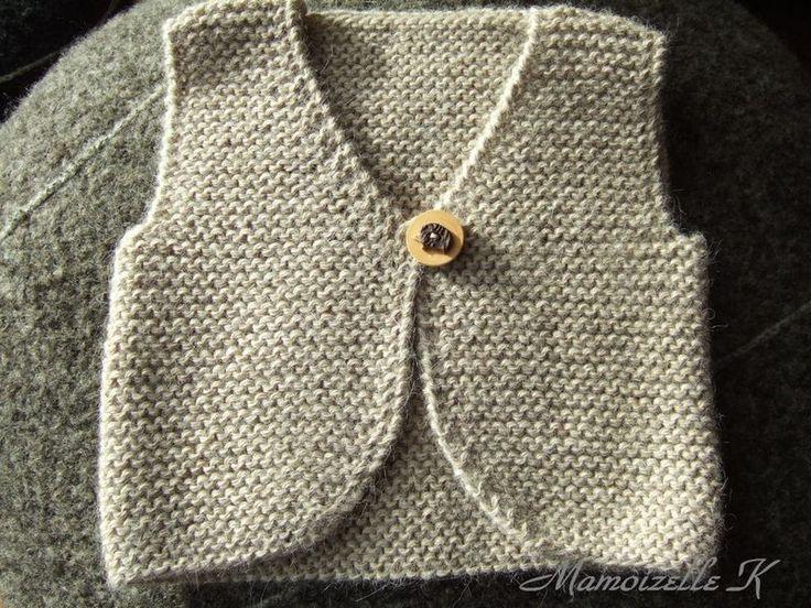 modèle tricot gratuit gilet de berger