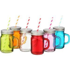 Bright Mason Jar Mugs