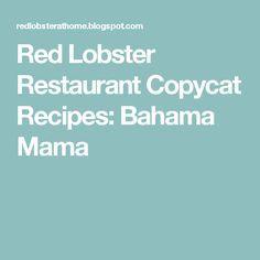 Red Lobster Restaurant Copycat Recipes: Bahama Mama