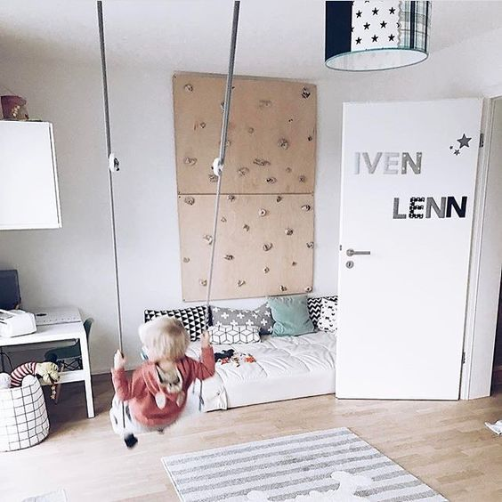 Kids Rooms Climbing Walls And Contemporary Schemes: 94 Best Climbing Wall Ideas For Kids Rooms:0 Images On