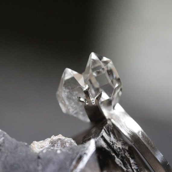 Hey, I found this really awesome Etsy listing at https://www.etsy.com/listing/164439159/herkimer-diamond-crystal-engagement-ring