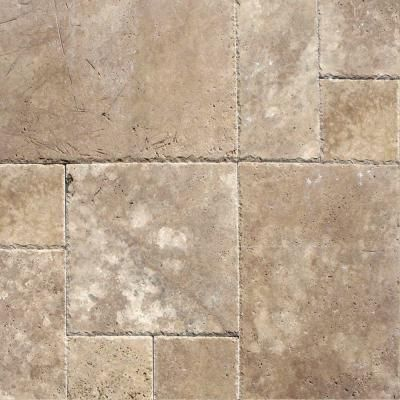 M. S. International Inc. Mediterranean Walnut Pattern Honed-Unfilled-Chipped Travertine Floor and Wall Tile (5 Kits - 80 sq. ft. / pallet)-TTWAL-PAT-HUFC at The Home Depot. $3.99 sq ft.