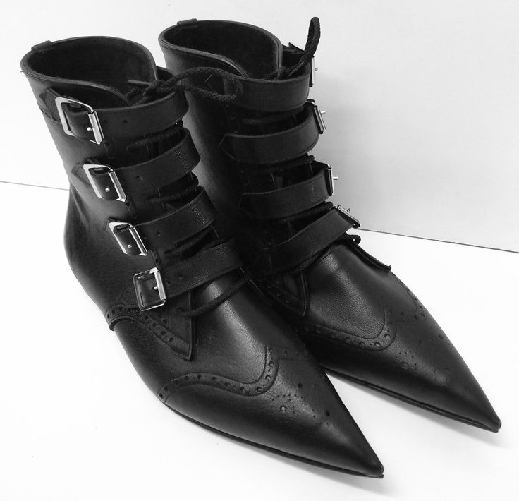 Original Pikes -4 Buckle/Laces with Brogueing