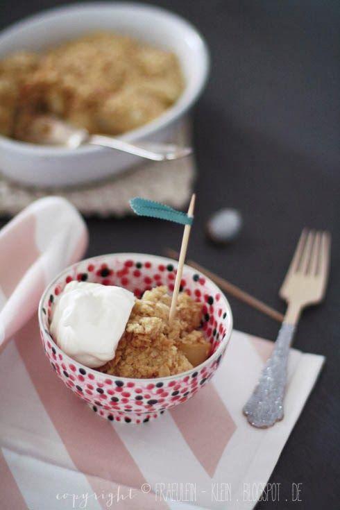 Bleib hungrig auf Neues: Birnen Crumble