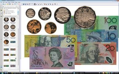 Mr. Baldock's Primary School Resources: Australian money for your Smartboard