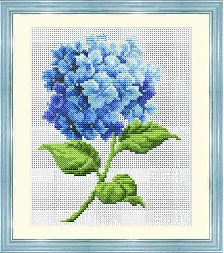 hydrangea Cross Stitch | Blue Hydrangea Cross Stitch Kit - Coleshill Collection - qualityneedlecraft.co.uk