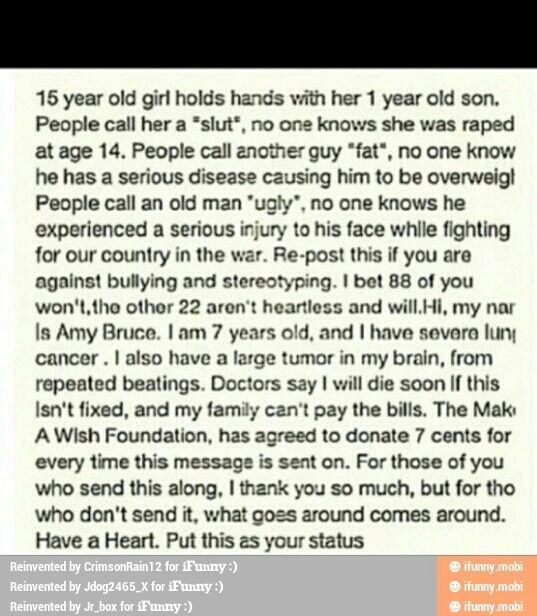 please read and pass on