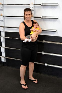 CrossFit work outs scaled for pregnancy and post-partum. Could have used this
