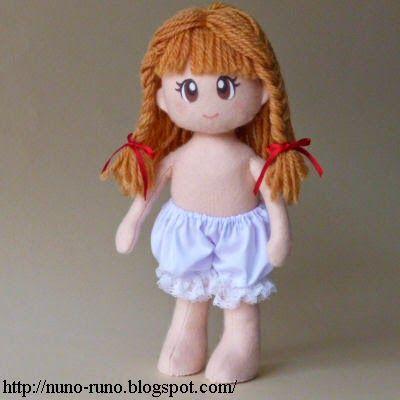 Boneca de Pano: Boneca de Feltro Simples - lingerie com passo a passo                                                                                                                                                                                 Mais