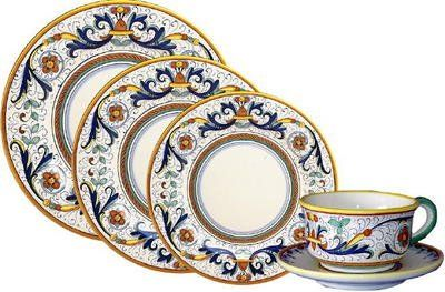 Deruta Ricco Italian Hand-Painted Dinnerware Set
