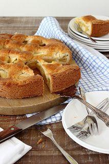 Crostata di mele - appeltaart met custardpoeder op de bodem