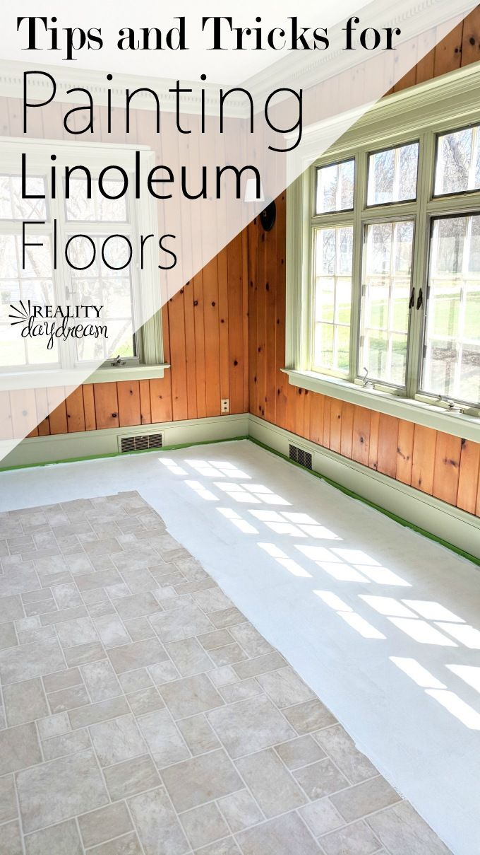 Painting Linoleum Floors The Right Way And What Supplies To Use Paint Linoleum Linoleum Flooring Painting Linoleum Floors