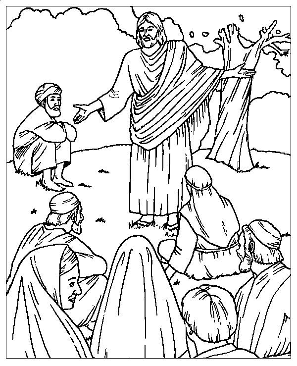 Sermon On The Mount Coloring Picture