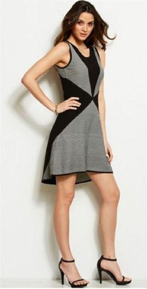 TodoMercado - New Armani Exchange A|X Womens Fit Graphic Stitch Dress