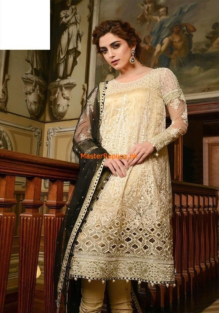 226fcfd7d04 Maria B. Latest Embroidered Cream   Black Collection at Retail and whole  sale prices at Pakistan s Biggest Replica Online Store Maria B. Latest  Embroidered ...