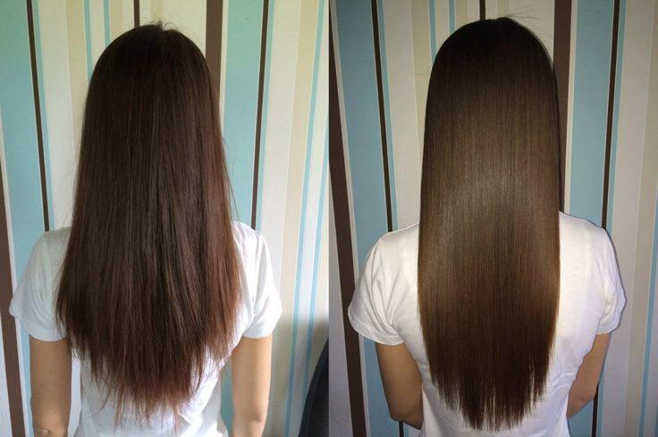 cabello antes y despues cabello lacio anti friz aceite de coco