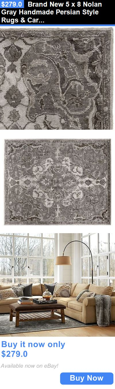 household items: Brand New 5 X 8 Nolan Gray Handmade Persian Style Rugs And Carpet BUY IT NOW ONLY: $279.0