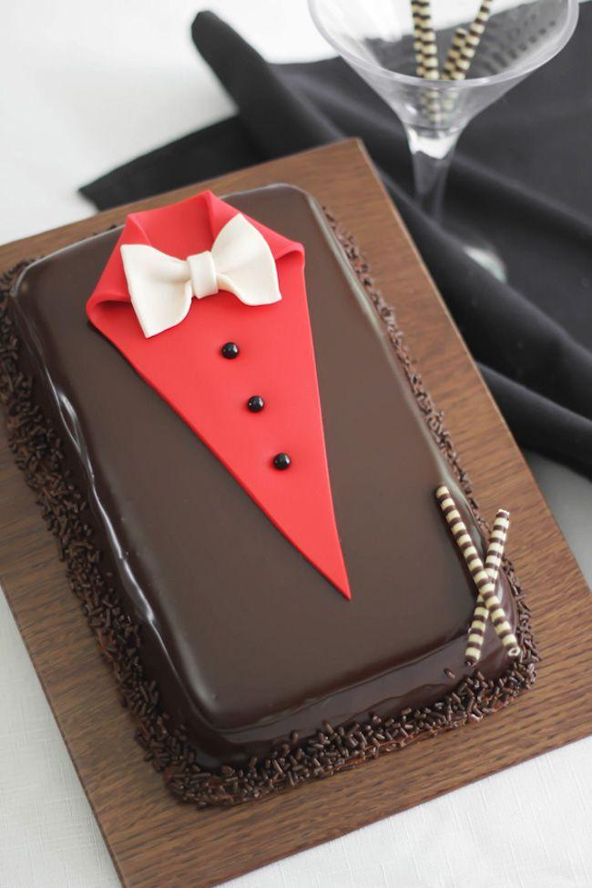 Para um verdadeiro cavalheiro, este bolo divertido é perfeito para papais sofisticados.