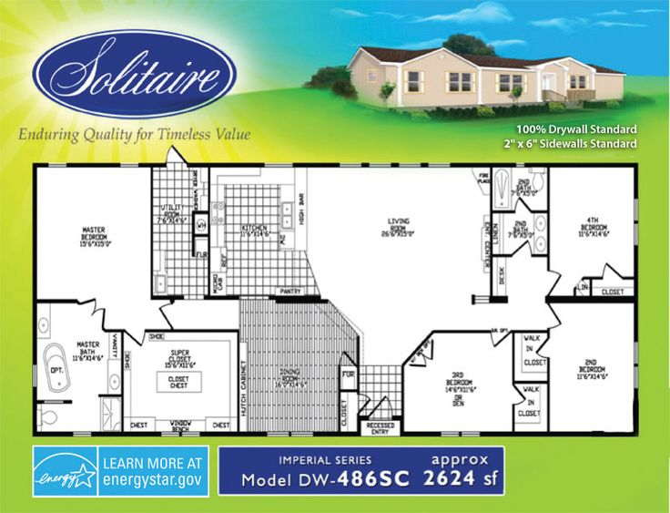 solitaire mobile home floor plans home design and style