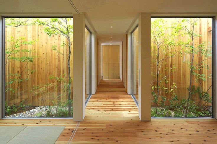 The perimeter of the entrance connects the structure with nature, a commodity with a humble amount of natural lighting and symmetry.