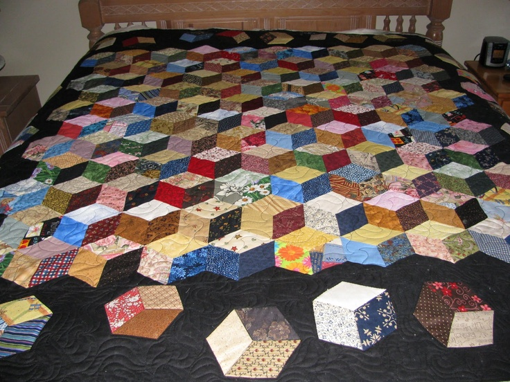Quilt Block Patterns In Alphabetical Order : 36 best images about Quilt - Tumbling Blocks on Pinterest Tumbling blocks, Jaybird quilts and ...