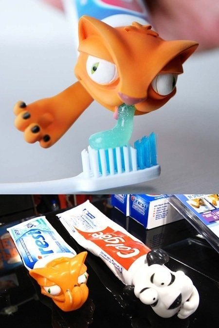 makes brushing your teeth more interesting.