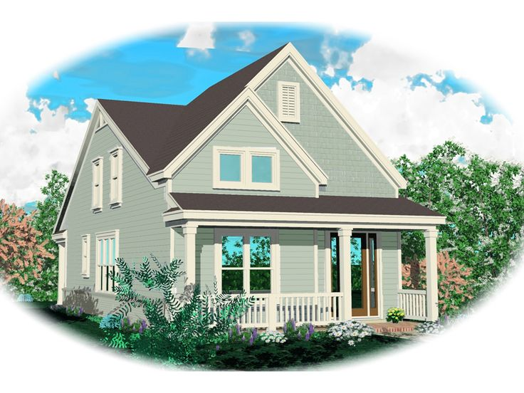 Tiny Home Designs: Monceau Country Home Front Of Home From Houseplansandmore