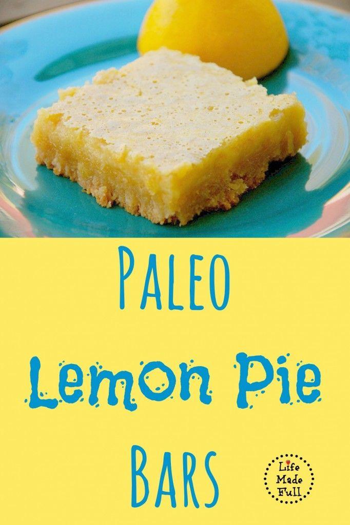 Melt-in-your-mouth, Paleo Lemon Bars!
