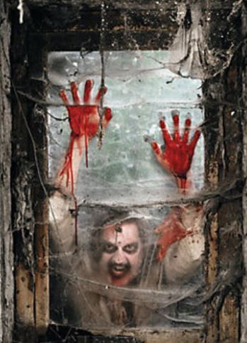 Zombie Window Decoration, Backdrop or Banner...