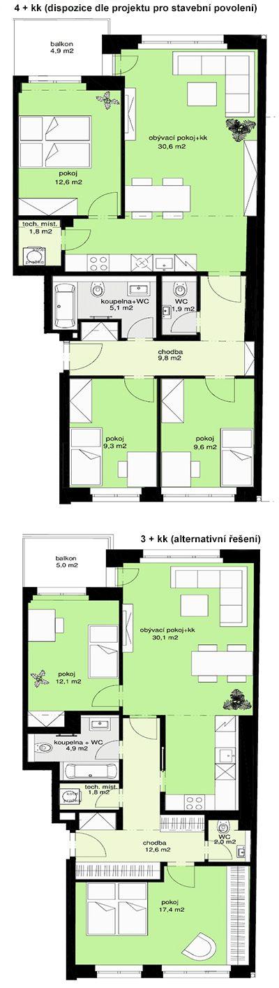 Rezidence u Vyšehradu, byt 42, 91,6m, 5.732.000, Marie Cibulkové 22, u Vyšehradu