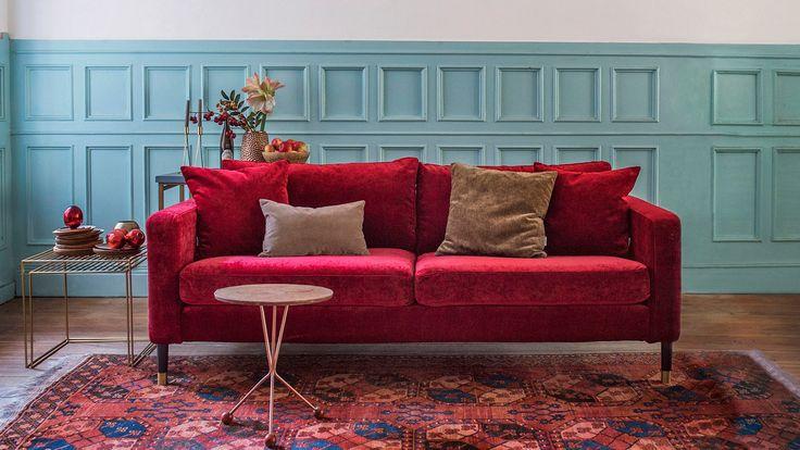 Klädsel till IKEA.s soffa KARLSTAD, Zaragoza Vintage Velvet bemz.com