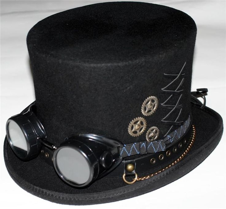 STEAMPUNK VICTORIAN GOTHIC Genuine Wool Mens MAD HATTER TOP #hat with GOGGLES New | Clothing, Shoes & Accessories, Men's Accessories, Hats | eBay!