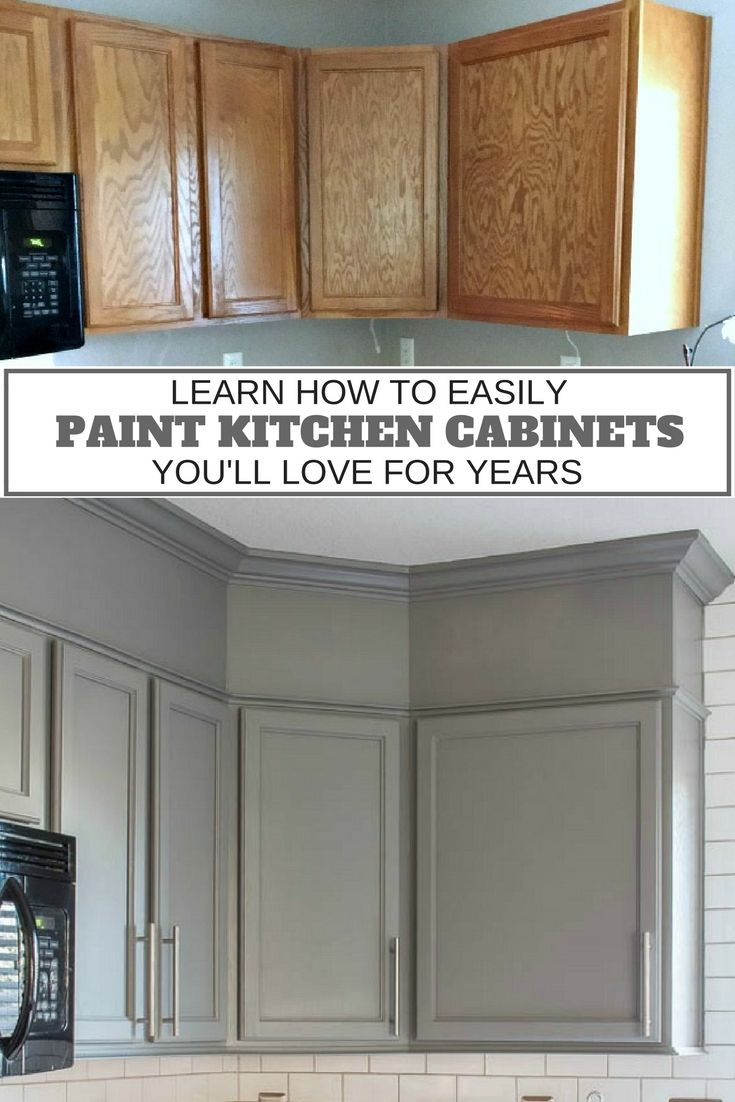 Crown molding on kitchen cabinets before and after - How To Easily Paint Kitchen Cabinets You Will Love
