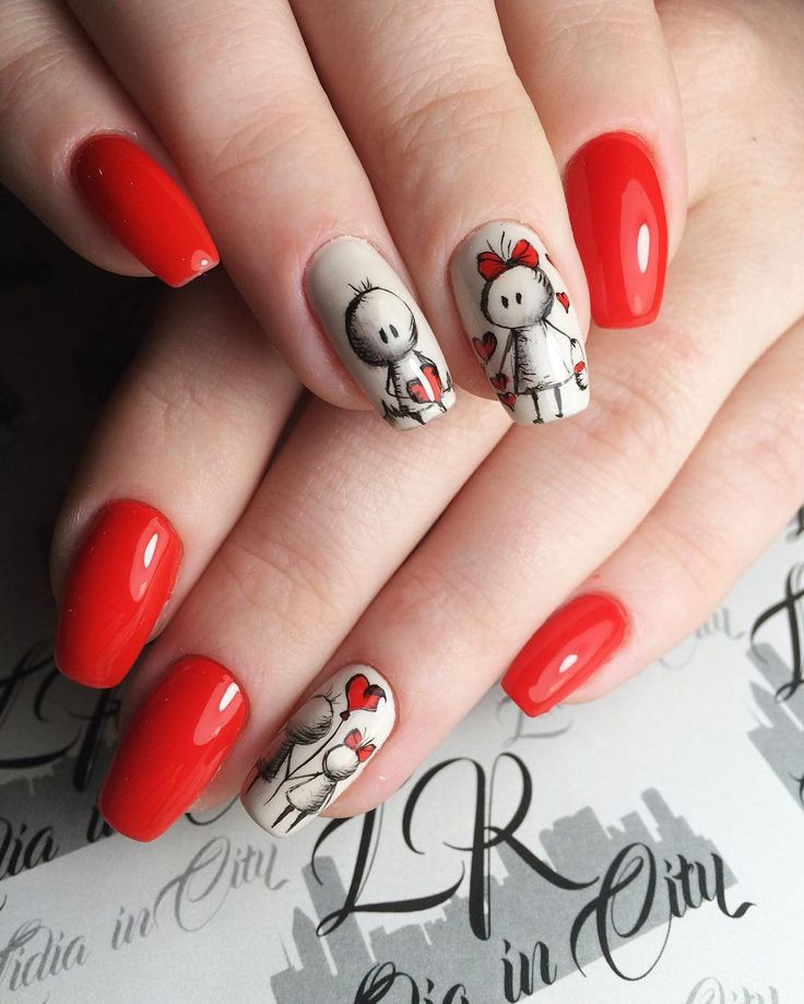awesome 30 Flaming Ideas on Red Nails - Make a Statement