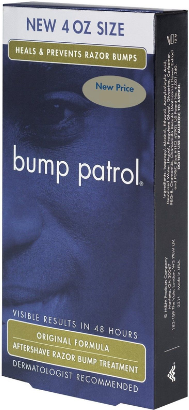 Bump Patrol Aftershave Razor Bump Treatment Original Formula, 4 oz