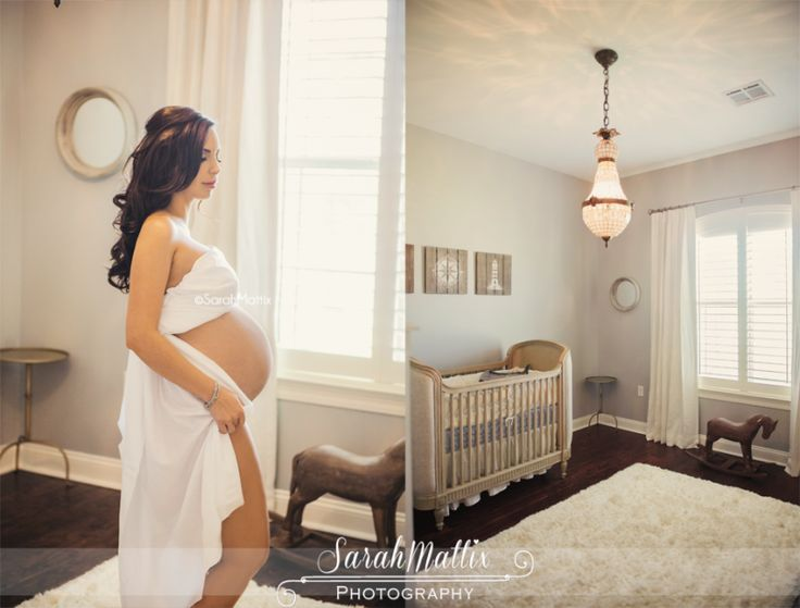Sarah Mattix Photography Lifestyle Maternity Session Baby Room Crib