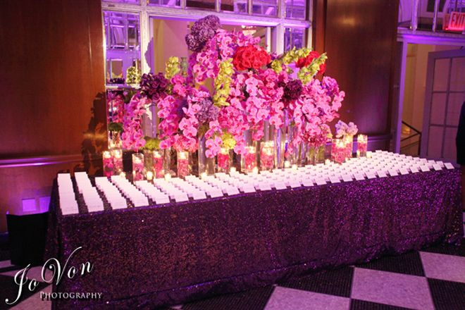 Escort Cards Table : Floral Arrangements and Decor - Belle the Magazine . The Wedding Blog For The Sophisticated Bride