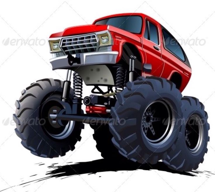 Best Cartoon Monster Truck Images On Pinterest Cartoon