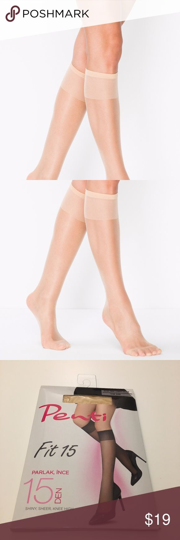Penti Nylon Socks Sheer Shiny Knee Highs Socks NWT Penti Nylon Socks Sheer Shiny Knee Highs With Comfort Band Ultra Thin 3-Pack NWT Sheer Shiny Knee highs with comfort band and reinforced toe 85% Polyamide, 15% Elastane Comfortable with pants, skirts and dresses Made in Turkey Handwash only Color: Light Nude, Bronze Size: Standard Super thin 3- Pack, means 3 pairs of sockets Penti Accessories Hosiery & Socks