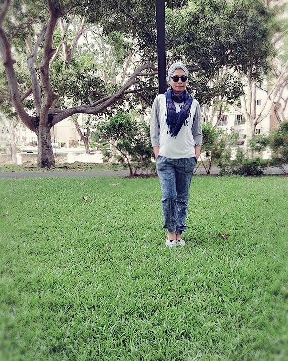 sport casual wear.  #hijabturbanbyskyeak #hijabstyle #hijabista # turban