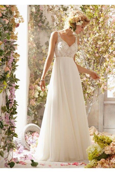 Vestidos de novias vintage sencillos 2015 de seda