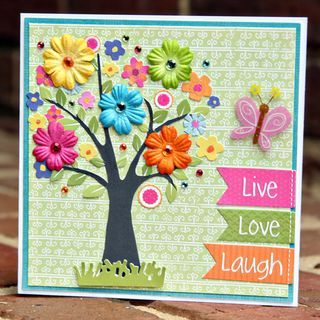 colorful flower tree using petaloo floradoodles flowers - bjl